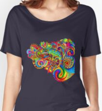 Psychedelizard Psychedelic Chameleon Women's Relaxed Fit T-Shirt
