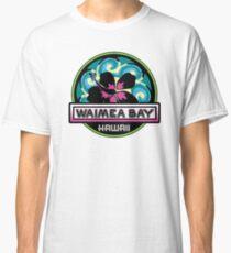 WAIMEA BAY Hawaii Hibiscus Flower Wave Travel Vacation Decal Pink Green Classic T-Shirt