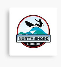 Surfing North Shore Hawaii Oahu Surf Surfboard Waves Surfer Canvas Print