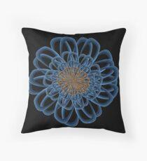 Flower Fractal Mandala 4B Throw Pillow