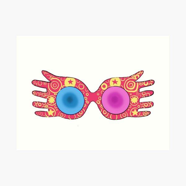 Gafas lunares Lámina artística