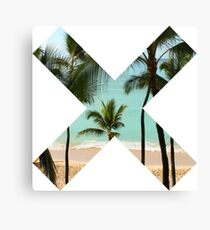 X Palm Tree Beach Canvas Print