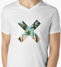 X Palm Tree Beach Men's V-Neck T-Shirt