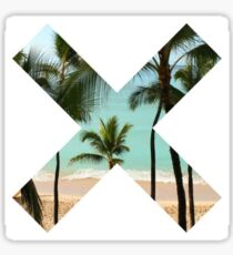 X Palm Tree Beach Sticker