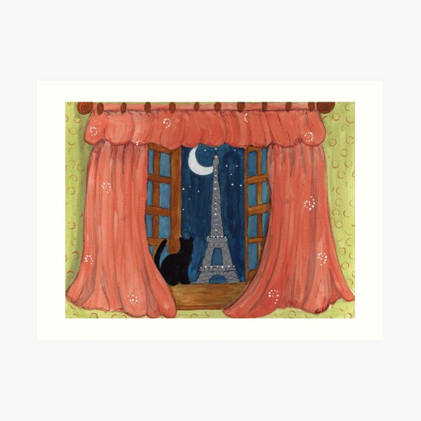 Paris Moonlight Art Print