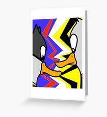 Batducky VS Superducky Greeting Card