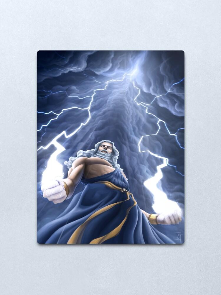 Alternate view of Zeus Unlimited Metal Print