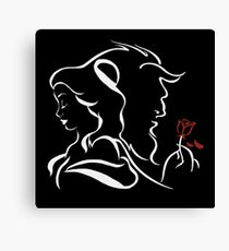 beauty and the beast broken rose Canvas Print