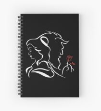 beauty and the beast broken rose Spiral Notebook
