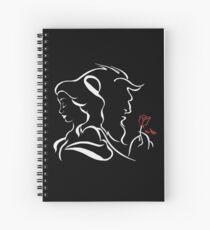 beauty and the beast broken rose Spiral Notebook