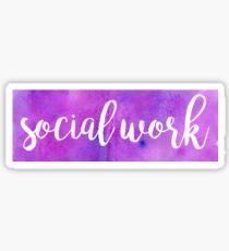 social work watercolor Sticker