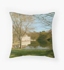 Prospect Park Boathouse Throw Pillow