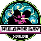 HULOPOE BAY Hawaii Hibiscus Flower Wave Travel Vacation Decal Pink Green by MyHandmadeSigns