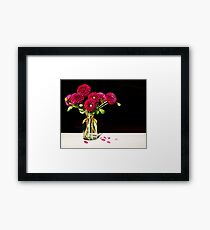 In a Jar | Dahlias Framed Print