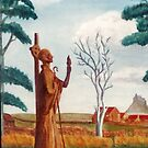 St Cuthbert, Holy Island. by Woodie