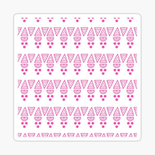 Pink abstract modern pattern Sticker