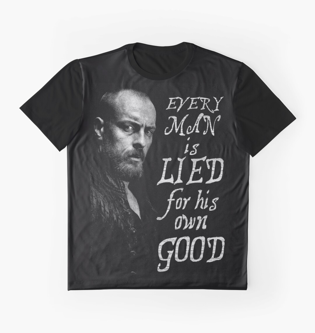 Black t shirt for man - Black Sails Every Man Is Lied Graphic T Shirts