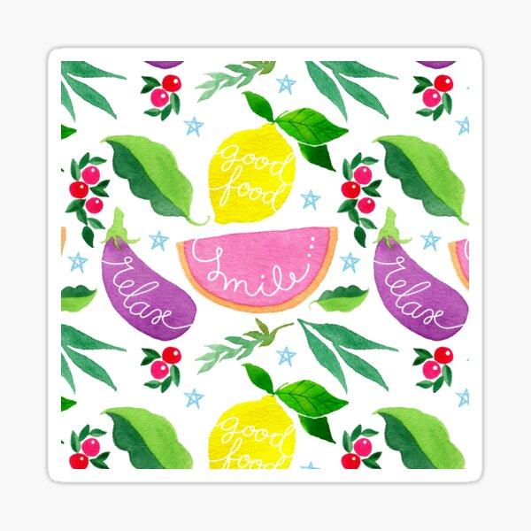 Smile relax lemon veggie modern sweet pattern Sticker