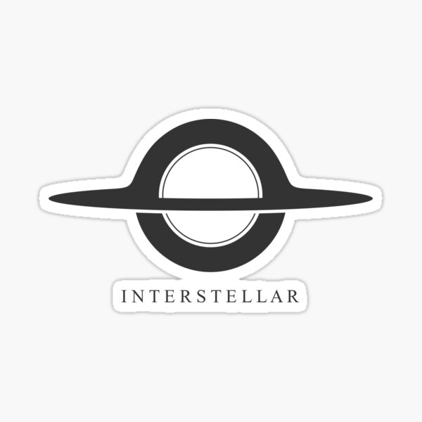 Interstellaire - Gargantua minimaliste Sticker