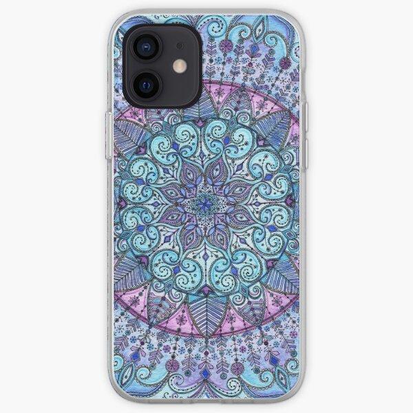 Blue Mandala Funda blanda para iPhone