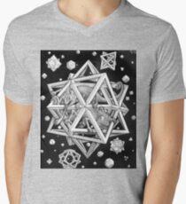 MC Escher Halftone Men's V-Neck T-Shirt