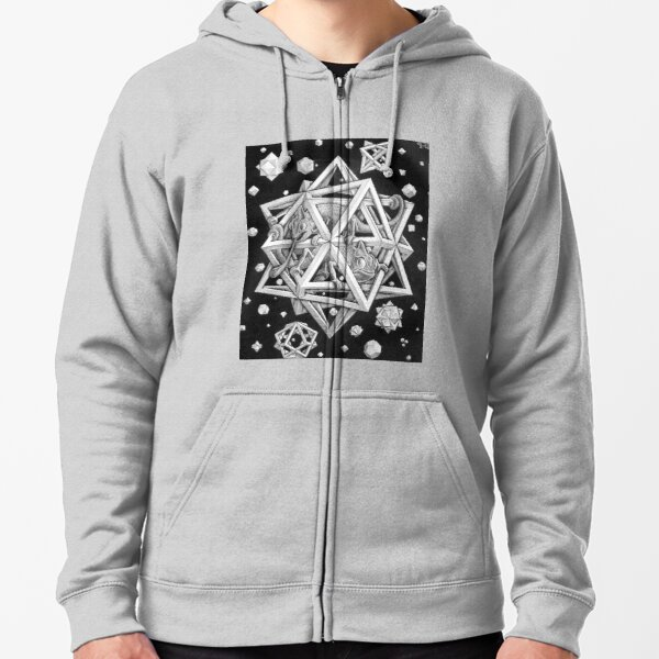 MC Escher Halftone Zipped Hoodie