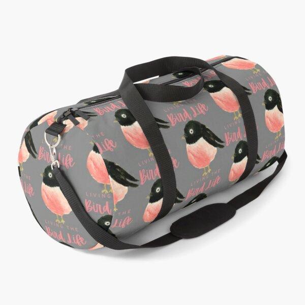 Pink Bird Living The Bird Life Duffle Bag