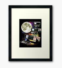 Computers in Space (Vintage Geek) Framed Print