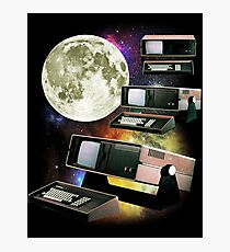 Computers in Space (Vintage Geek) Photographic Print