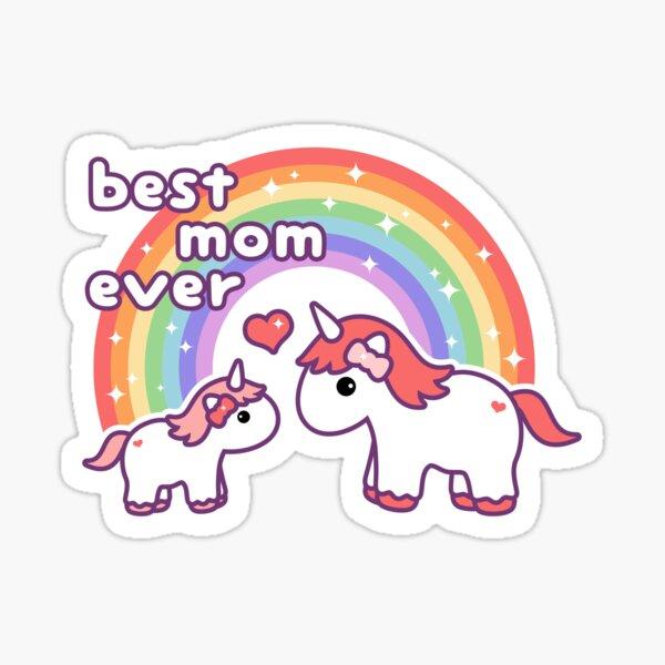 Cute Unicorn Mom Sticker