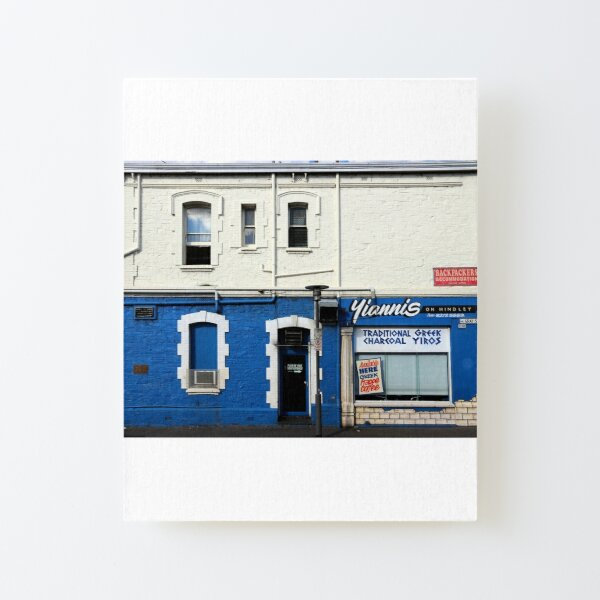 Yianni's on Hindley Canvas Mounted Print