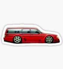 Volvo Wagon Racecar Sticker