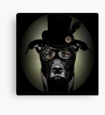 4.	Dapper Eduardian Pit Bull in Steampunk Gear Canvas Print