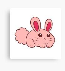 Cute Round Bunny Canvas Print