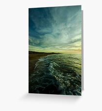 where water and sky meet Greeting Card
