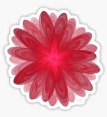Red Flower Bloom Fractal  Sticker