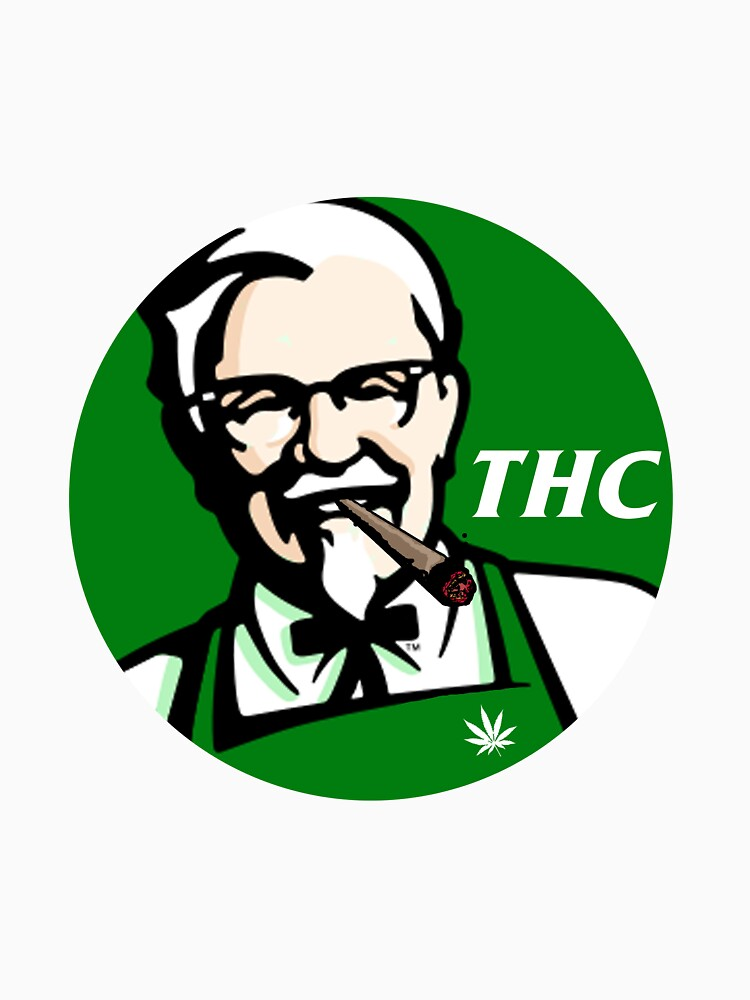 TShirtGifter presents: Finger stickin bud (THC) KFC logo   Unisex T-Shirt