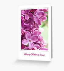 Purple Lilac for Mother's Day Greeting Card Greeting Card