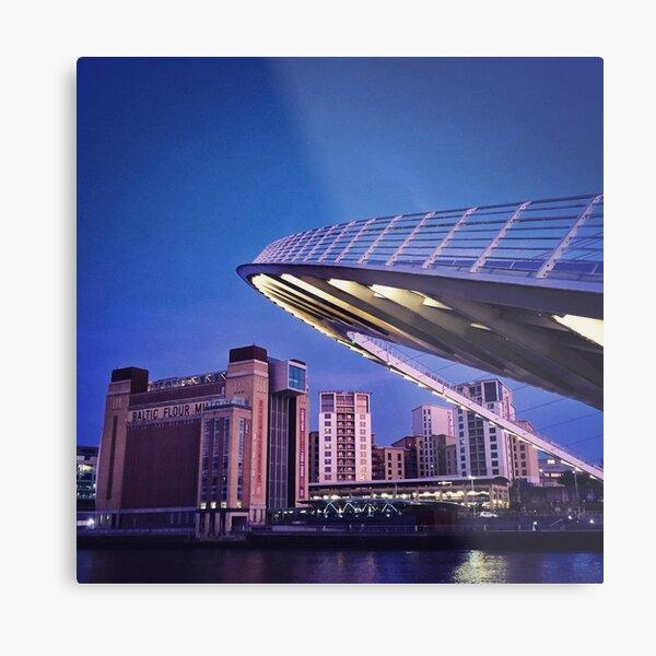 Baltic and Bridge, Newcastle Upon Tyne Metal Print