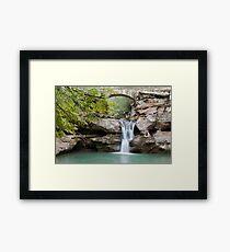 Old Man's Cave Upper Falls Beautiful Nature Landscape Art Framed Print