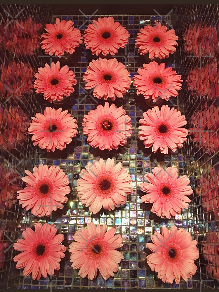 Flower Lovers Gift - Pink Gerberas by OneDayArt