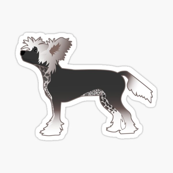 Chinese Crested Toy Breed Illustration Silhouette Sticker