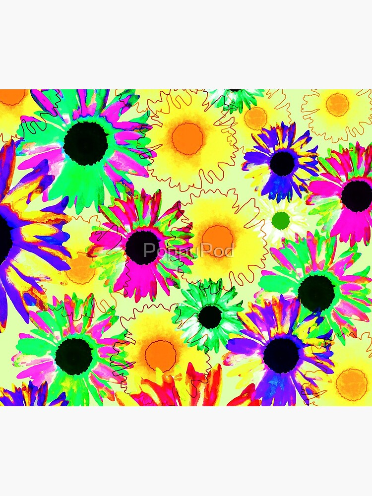 Wildflower Floral - Sunny Yellow by PoppyPod