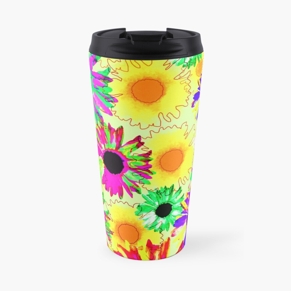 Wildflower Floral - Sunny Yellow Travel Mug