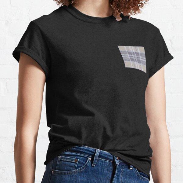 deco art Emblisshed check navy white brown stripe strips inarsia fashion plaid  Classic T-Shirt