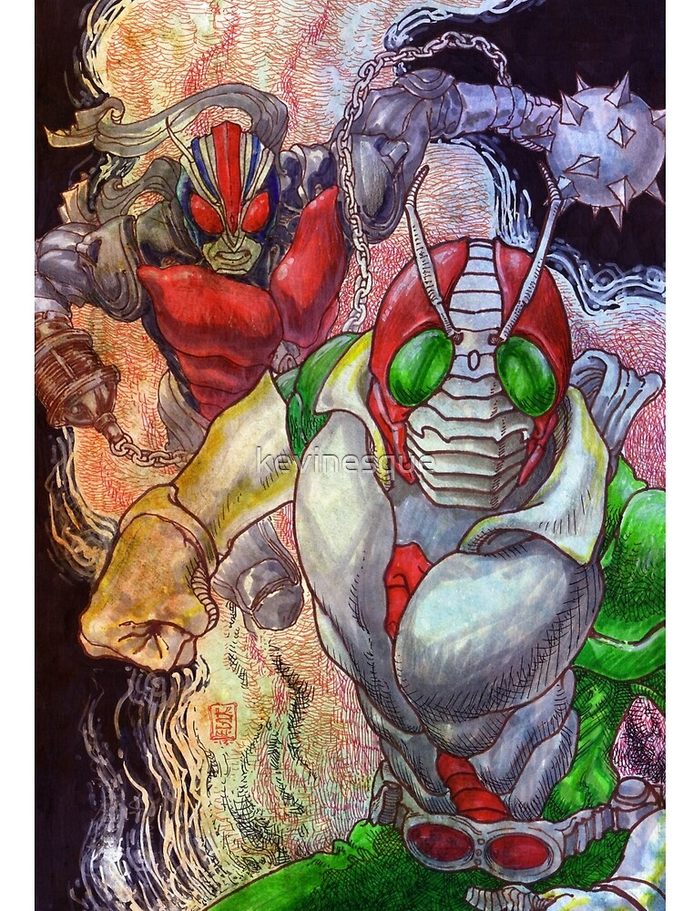 Kamen Rider and Riderman by kevinesque