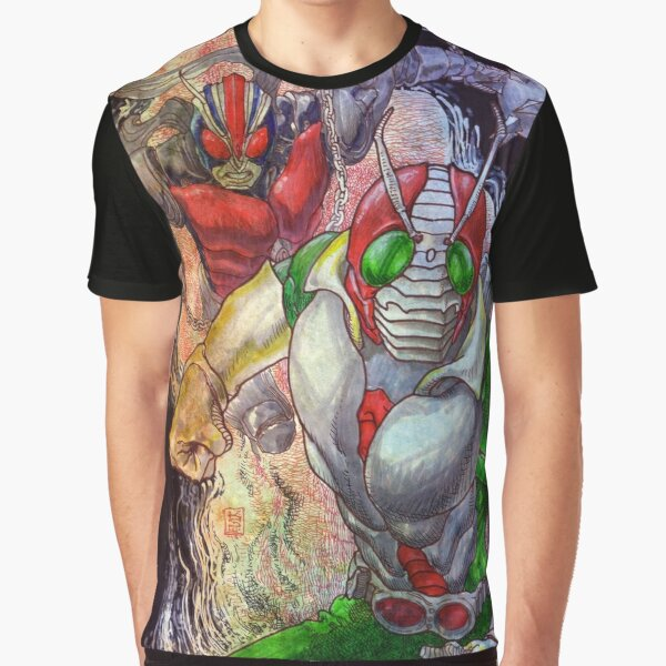 Kamen Rider and Riderman Graphic T-Shirt