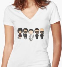 Crazy 88s Vanguard! Women's Fitted V-Neck T-Shirt