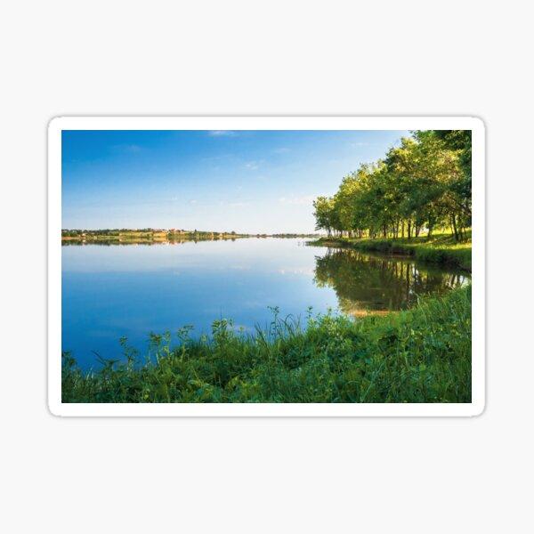 beautiful summer scenery near the lake Sticker
