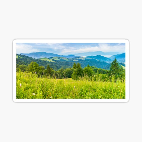 panorama of a beautiful meadow in mountains Sticker